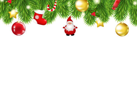 Christmas Framework, With Gradient Mesh, Vector Illustration  Vector