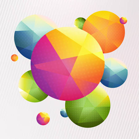 Colorful Origami Paper Ball, With Gradient Mesh, Vector Illustration  Vector