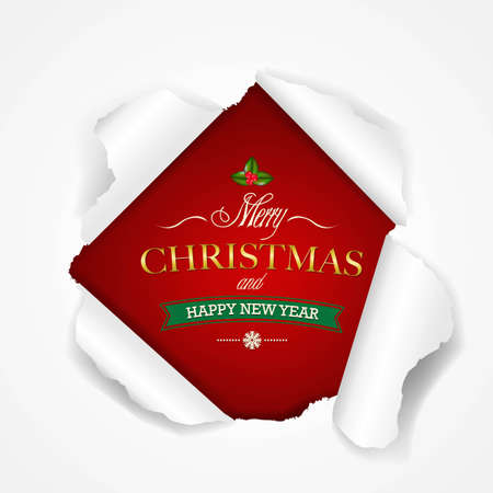 Happy Christmas Poster, With Gradient Mesh, Vector Illustration Vector