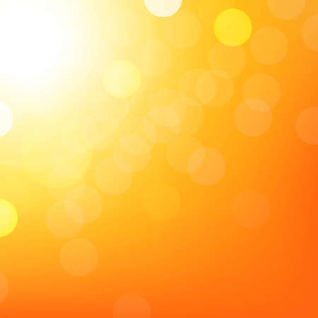Orange Background With Bokeh, With Gradient Mesh, Vector Illustration  Vector