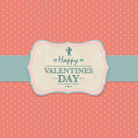 Happy Valentines Day Card, With Gradient Mesh, Illustration Vector