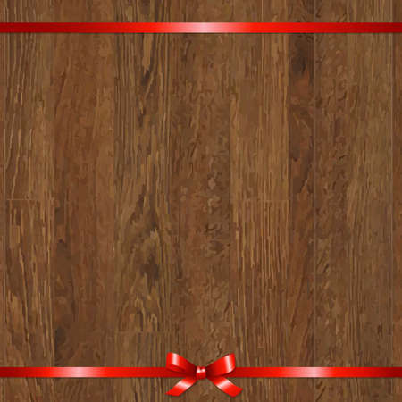 felicitation: Wood With Red Bow, Illustration