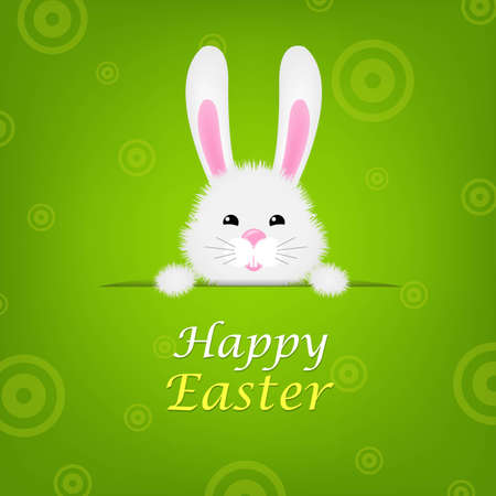 Easter Banner With Rabbit, With Gradient Mesh, Vector Illustration Vector