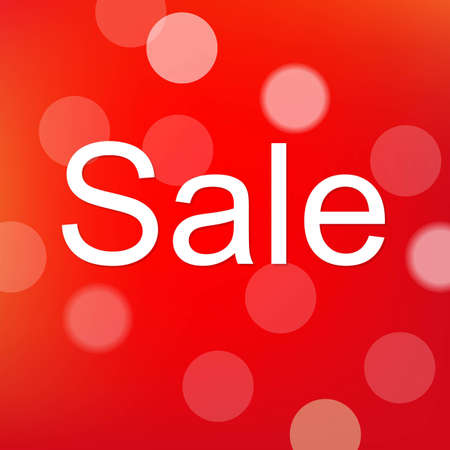 Red Sale Poster With Bokeh, With Gradient Mesh, Vector Illustration Vector