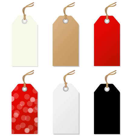 Sale Tags Set, With Gradient Mesh, Vector Illustration Vectores