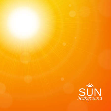 Sun Background, With Gradient Mesh, Vector Illustration Vector