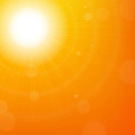 Sun Background, With Gradient Mesh, Vector Illustration Illustration