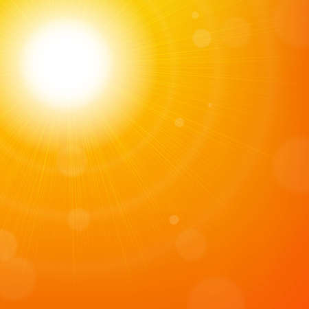 Sun Background, With Gradient Mesh, Vector Illustration Stock Illustratie
