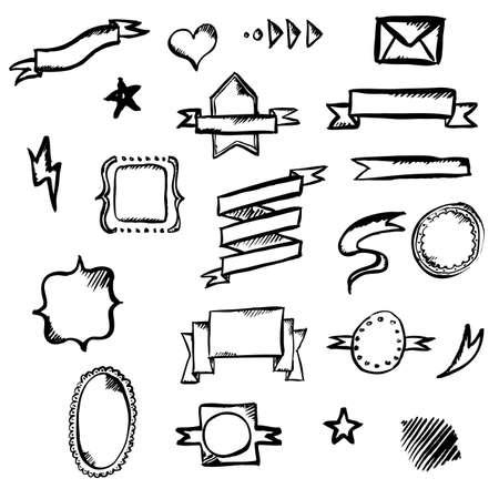to underline: Hand Draw Symbols, Vector Illustration Illustration