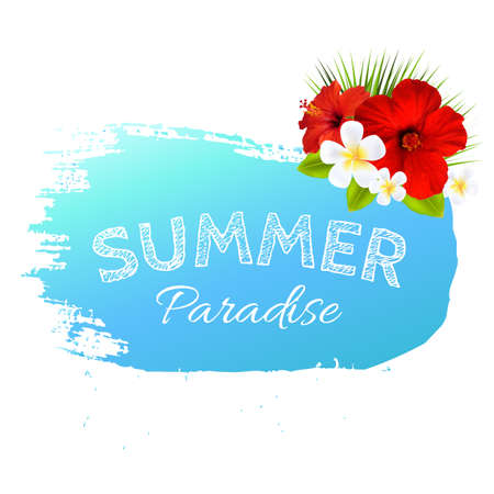 Summer Banner Blot For Design, With Gradient Mesh, Vector Illustration Vector