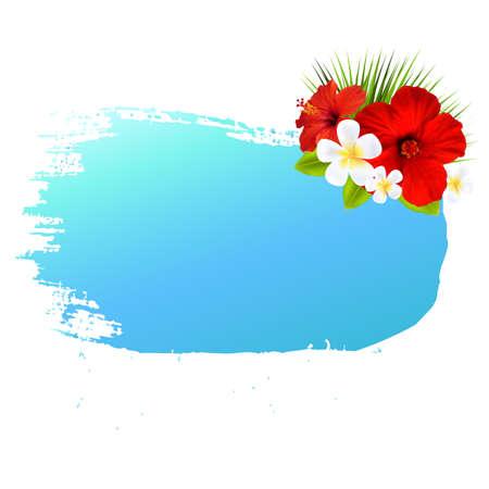 tahiti: Summer Banner Blot For Design, With Gradient Mesh, Vector Illustration
