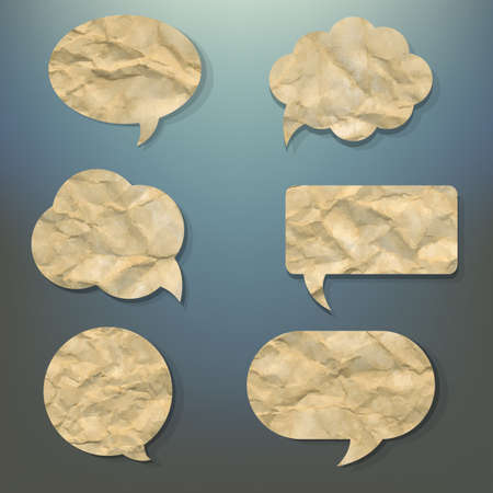 bubble sheet: Blurred Background With Speech Bubble, With Gradient Mesh, Vector Illustration