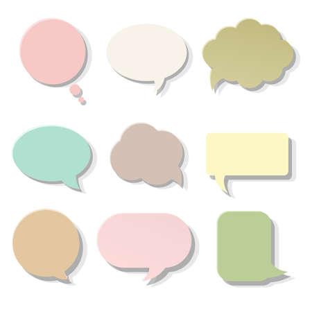 Pastel Speech Bubble, Vector Illustration Vector