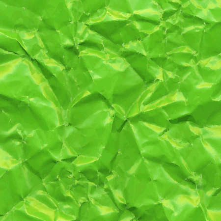 space rubbish: Green Crushed Paper, Vector Illustration