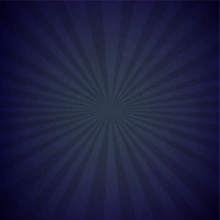 Dark Blue Sunburst Cardboard Paper With Gradient Mesh Illustration