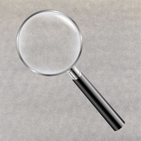 Magnifying Glass With Gradient Mesh Illustration Vector