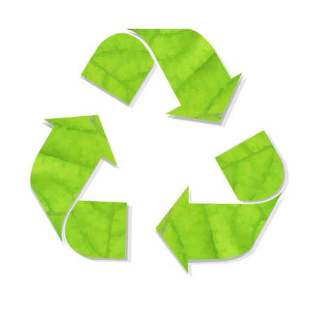 recycle symbol vector: Green Recycle Symbol, Vector Illustration