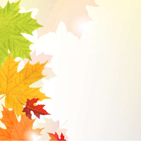 Leaves Border With Gradient Mesh, Vector Illustration Vector