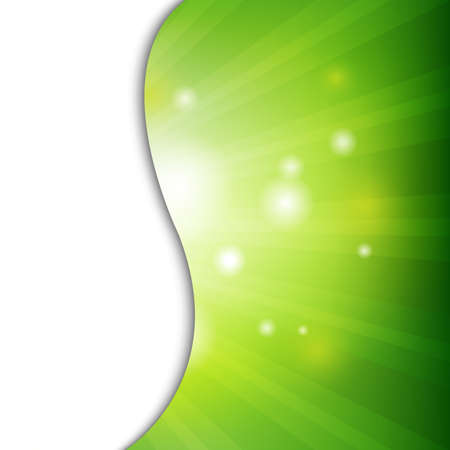Green Wall With Bokeh With Gradient Mesh, Vector Illustration Vector