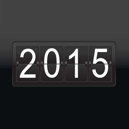 clicker: New Year Black Counter Poster, Vector Illustration