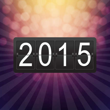 clicker: New Years Black Counter With Gradient Mesh, Vector Illustration