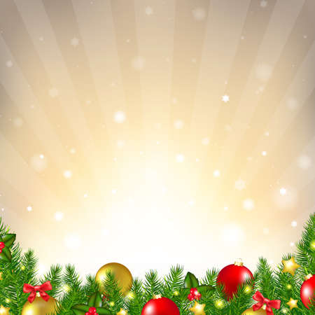 Luxury Christmas Background With Gradient Mesh, Vector Illustration Vector