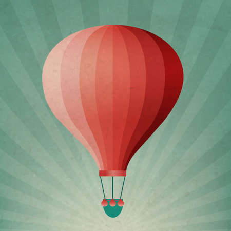 Retro Air Balloon With Gradient Mesh, Vector Illustration Vector