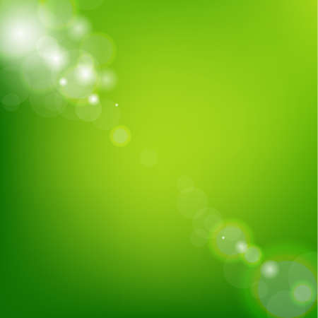 Green Background With Gradient Mesh, Vector Illustration Çizim