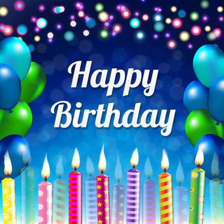 auguri di buon compleanno: Buon Compleanno Banner con gradiente maglie, illustrazione vettoriale Vettoriali