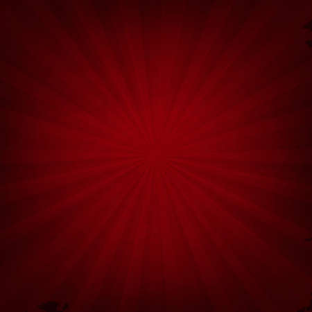 outburst: Red Texture With Sunburst With Gradient Mesh, Vector Illustration