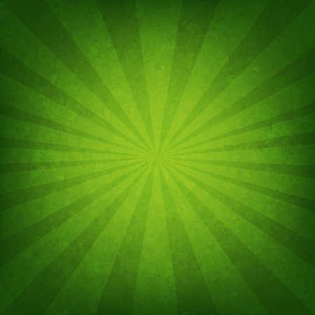 Green Sunburst plakát s mřížky, vektorové ilustrace