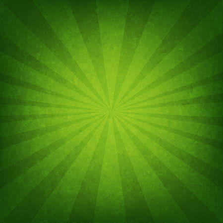 Green Sunburst Poster With Gradient Mesh, Vector Illustration