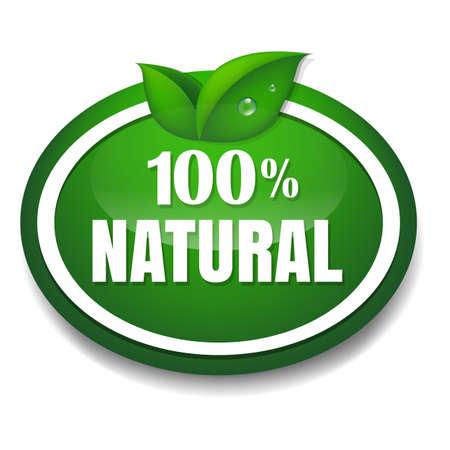 control de calidad: Naturaleza Tag con malla de degradado, ilustración vectorial