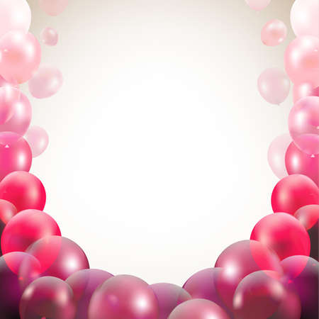 shinny: Congratulations Card With Balloons With Gradient Mesh Illustration