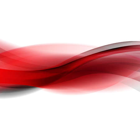 Red And Black Line With Gradient Mesh Stock Illustratie
