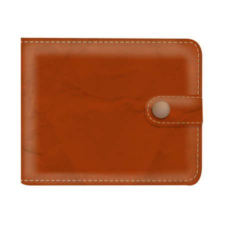 notecase: Wallet With Gradient Mesh, Vector Illustration