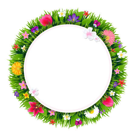 gradient mesh: Flowers With Gradient Mesh, Illustration