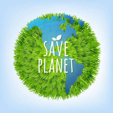 gradient mesh: Save Planet With Gradient Mesh, Illustration