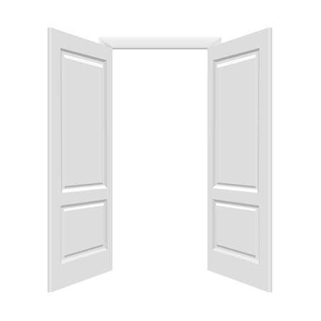 open doors: White Open Doors With Gradient Mesh, Illustration