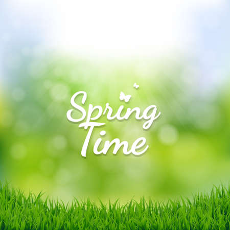 spring time: Spring Time Poster With Gradient Mesh, Illustration