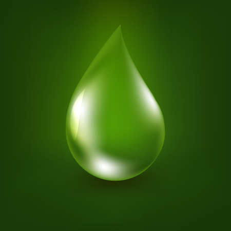 mesh: Aloe Vera Drop With Gradient Mesh, Vector Illustration