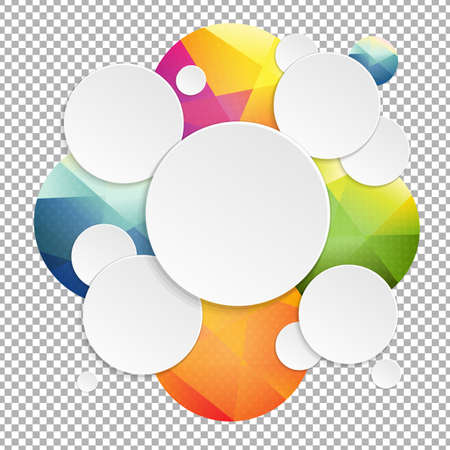 투명 한 배경, 벡터 일러스트와 함께 다채로운 연설 거품 일러스트