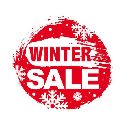 half price: Winter Sale , Vector Illustration