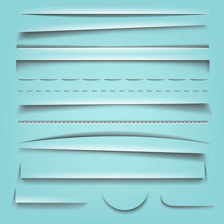 vertical dividers: Shadow Effect Collection With Gradient Mesh, Vector Illustration