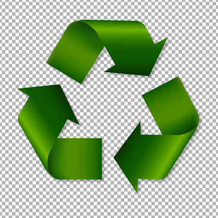 recycle sign: Recycle Sign With Gradient Mesh, Vector Illustration