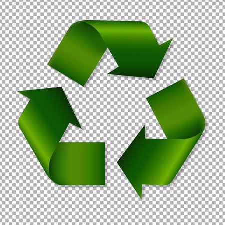 Reciclar signo con gradiente de malla, ilustración vectorial