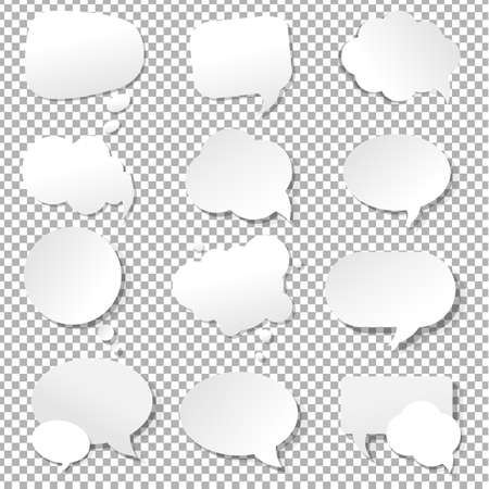 Speech Bubble Collection With Gradient Mesh, Vector Illustration Vetores