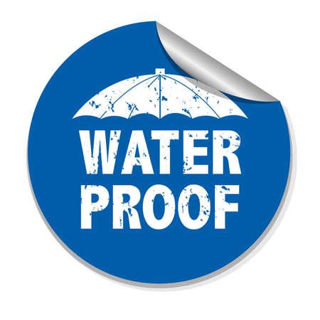 Water Proof Sticker, Vector Illustration