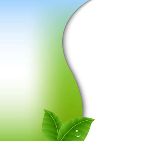 Nature Poster With Gradient Mesh, Vector Illustration
