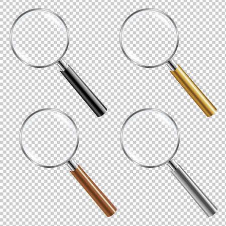 Magnifying Glass Set Gradient Mesh, Vector Illustration Illustration